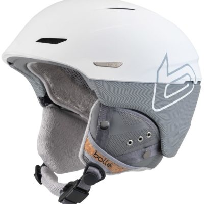 bolle millenium soft white 6& grey knit skihelm
