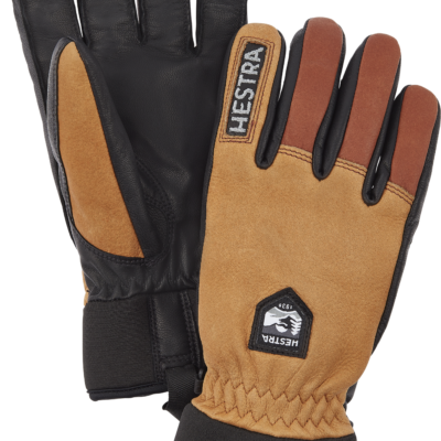 Hestra Army Leather Wool Terry 5 Finger Handschuh Unisex